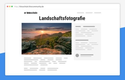 Fotokurs fotocommunity Landschaftsfotografie