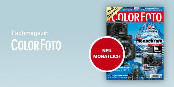 Fotografieren lernen und stets informiert bleiben: die Colorfoto für Dich inklusive