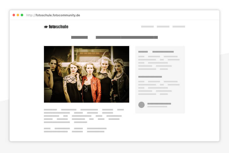 Jetzt fotografieren lernen - Online-Fotokurse und kostenlose Foto-Artikel