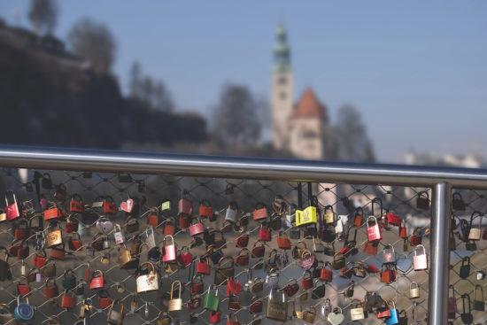 Fußgängerbrücke in Salzburg