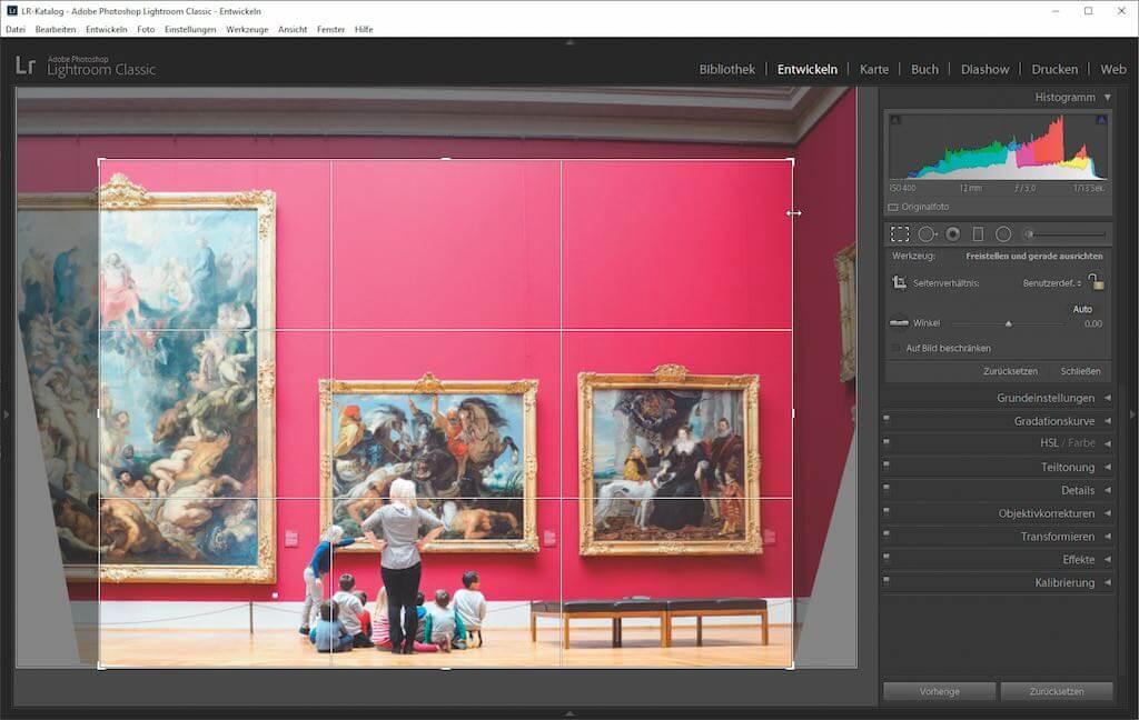 Bildbearbeitung Bild zuschneiden