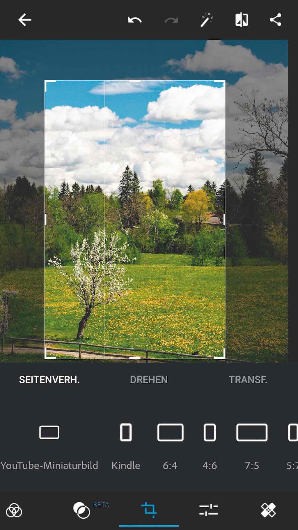 Bildkorrekturen mit Apps
