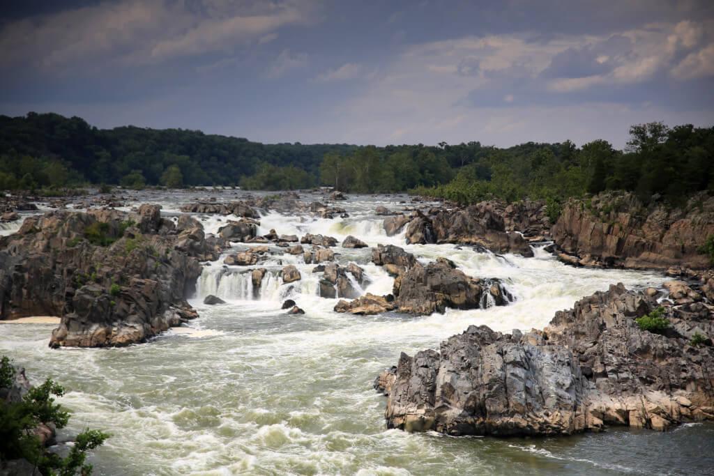 Landschaftsfotografie der Great Falls ohne Graufilter