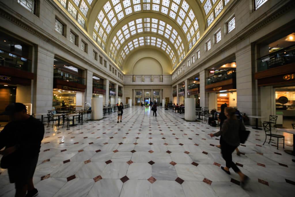 Washington Hauptbahnhof mit Ultraweitwinkel