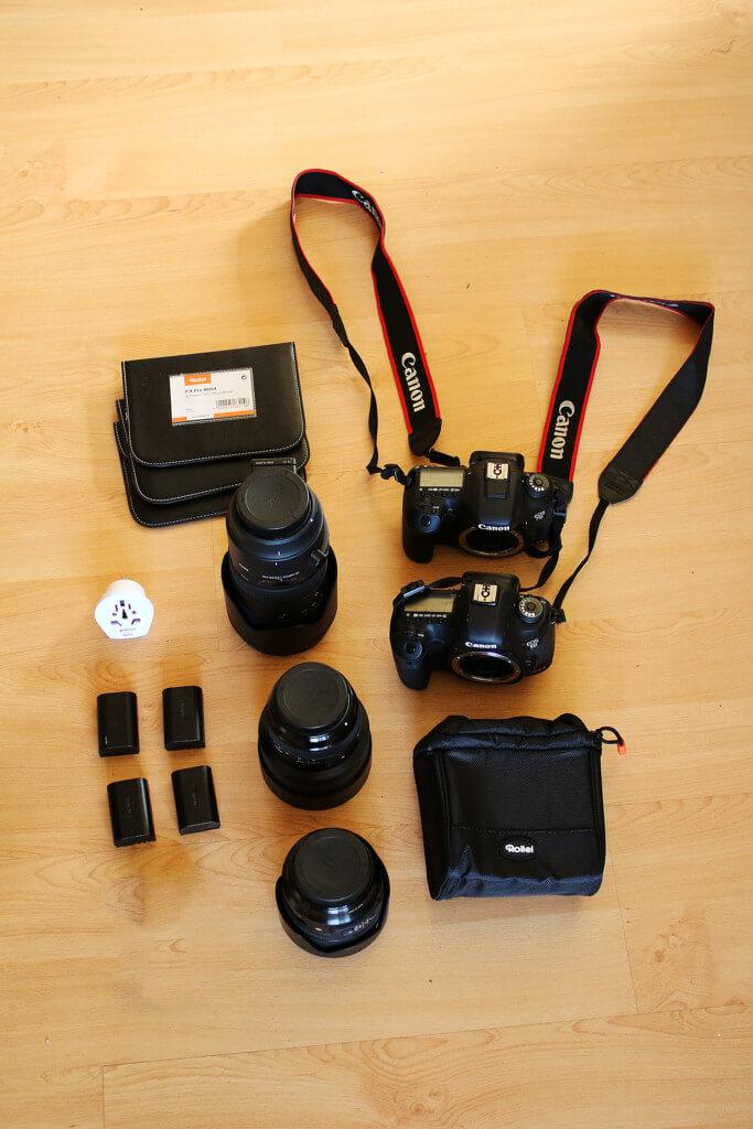 Ausrüstung für eine Fotoreise