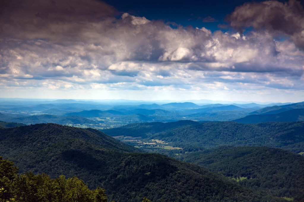 Blue Ridge Mountains in Virginia, USA