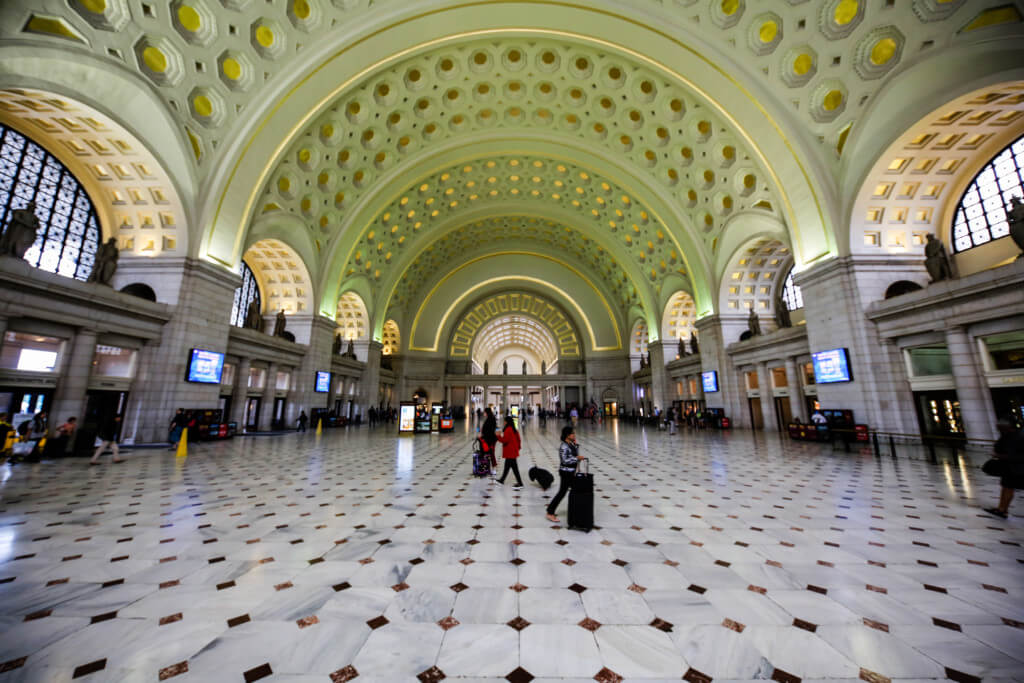 Washington Hauptbahnhof Ultraweitwinkel Objektiv