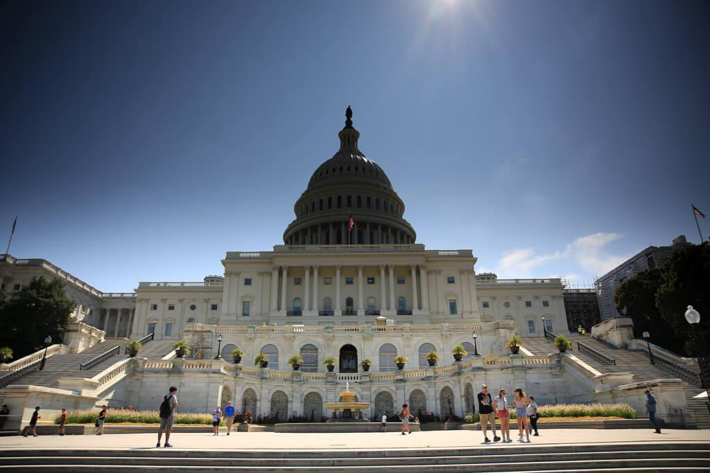 Das Kapitol in Washington mit Unterbelichtigung
