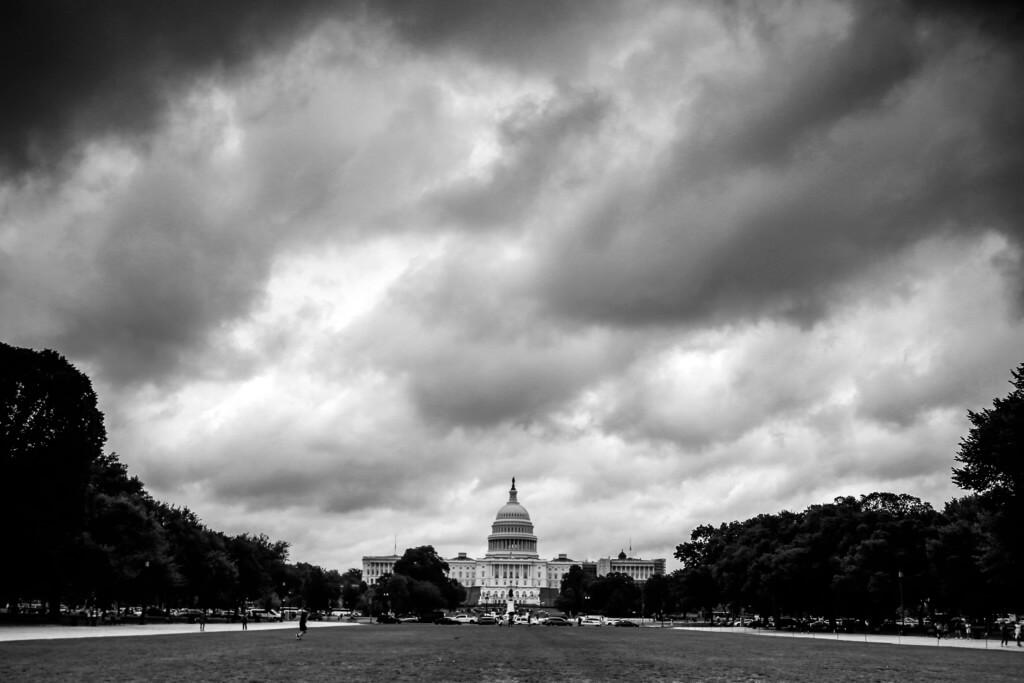Das Kapitol in Washington mit dem Grauverlaufsfilter