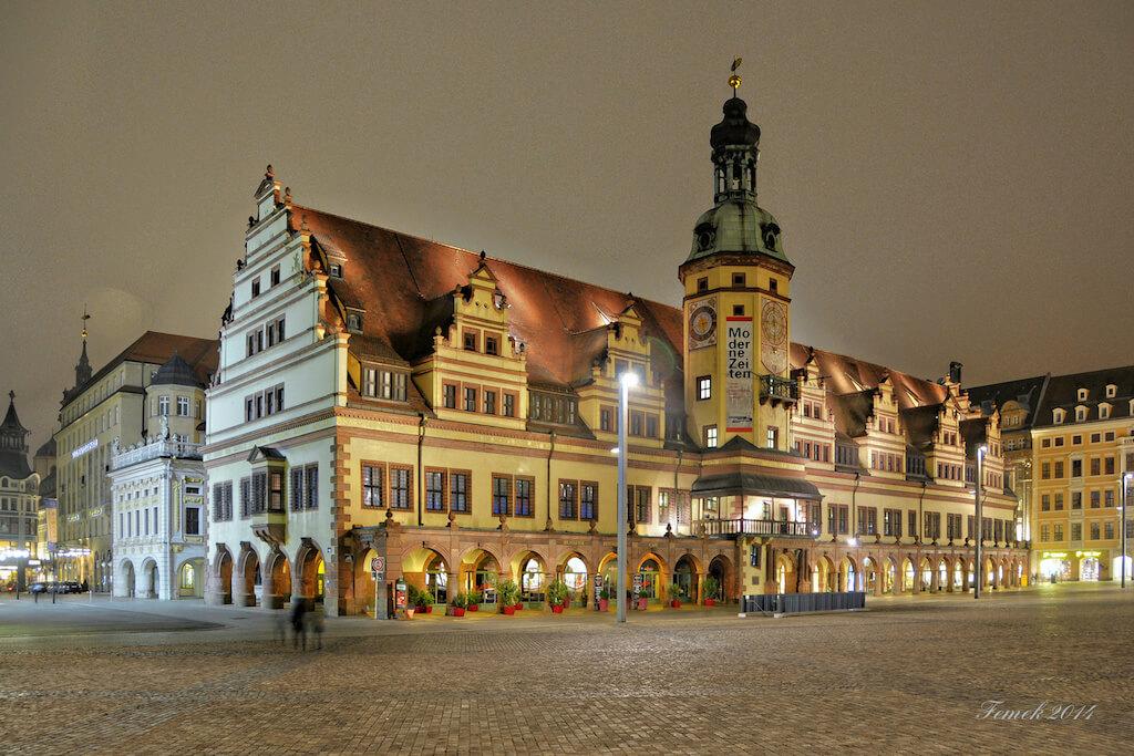 Leipzig Sehenswürdigkeiten fotografieren: Altes Rathaus