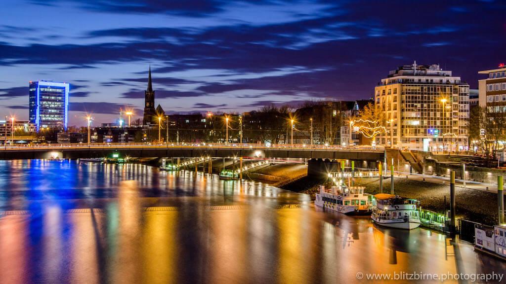 Bremen fotografieren: Weserpromenade