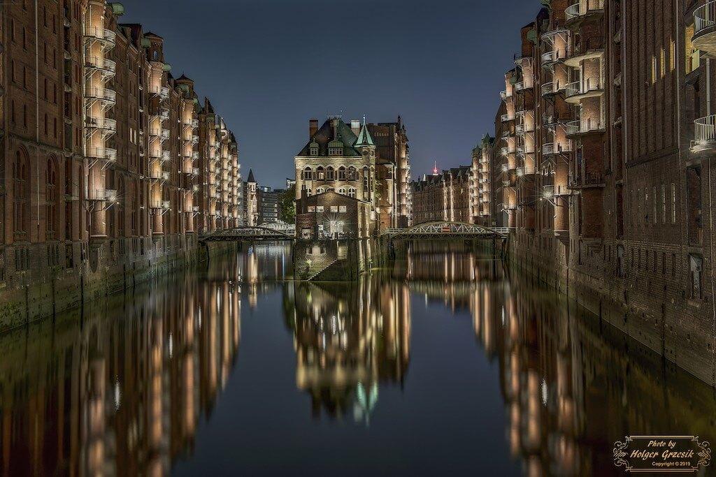 Wasserschloss in der Speicherstadt Hamburg