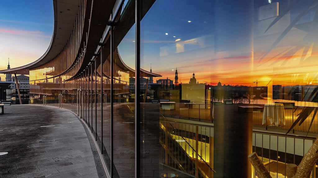 Sehenswürdigkeiten in Dresden fotografieren: Moderne Architektur