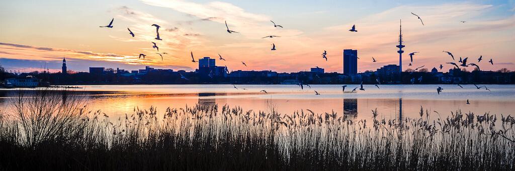 Außenalster Hamburg Panorama