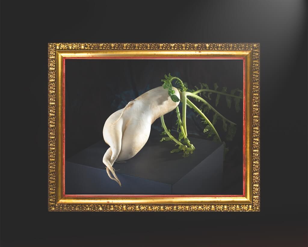 Gemüse witzig inszeniert