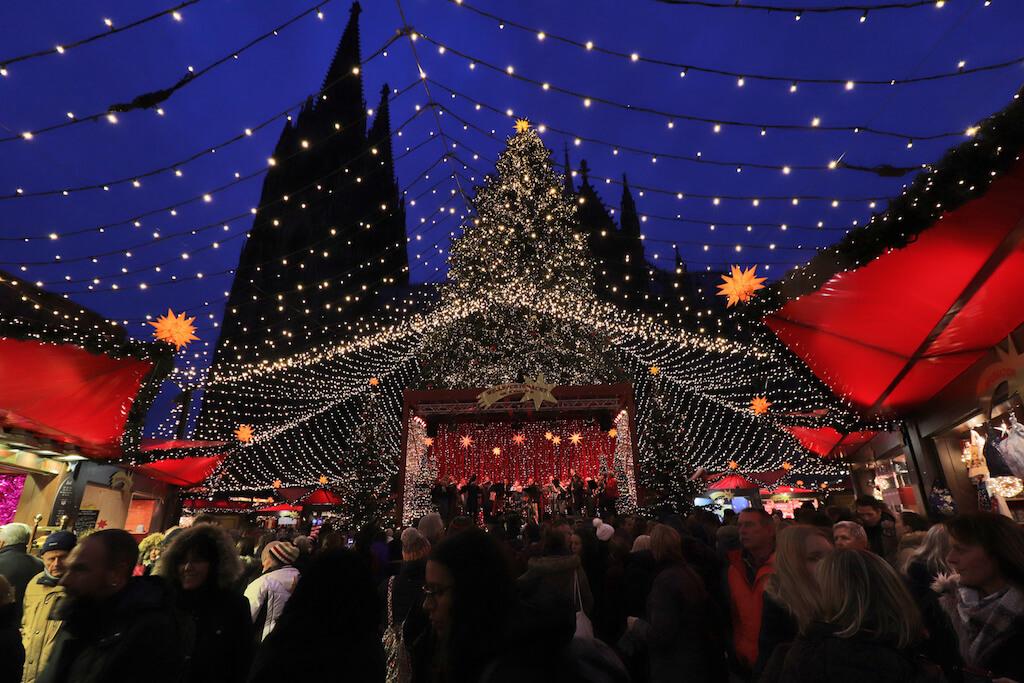 Fotografieren auf dem Weihnachtsmarkt: Köln