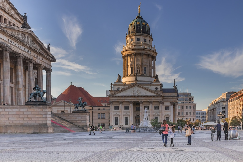 Sehenswürdigkeit in Berlin fotografieren: Gendarmenmarkt in Berlin Mitte
