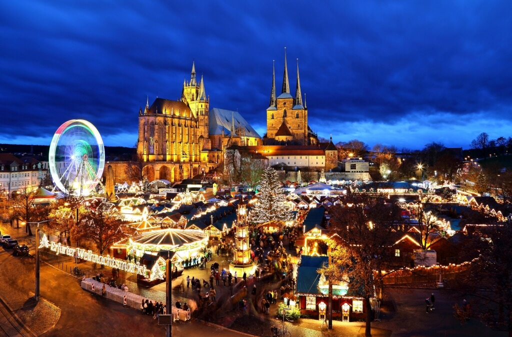 Weihnachtsmarkt in Erfurt fotografieren
