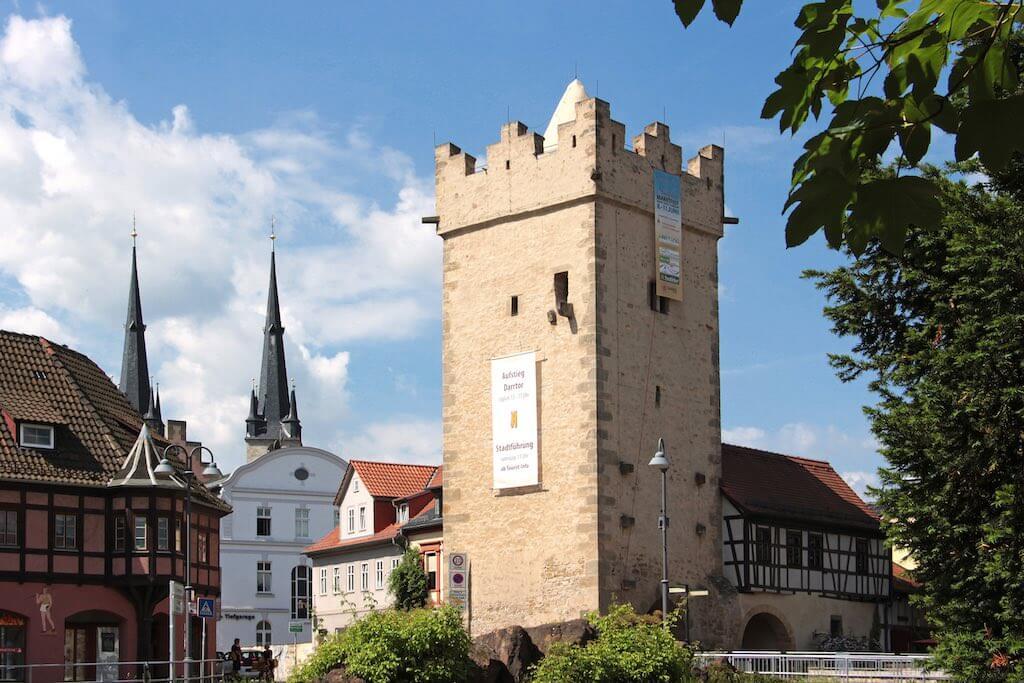 Sehenswürdigkeiten in Saalfeld: das Darrtor