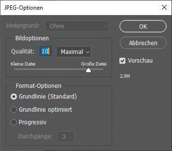 JPEG als Dateiformat