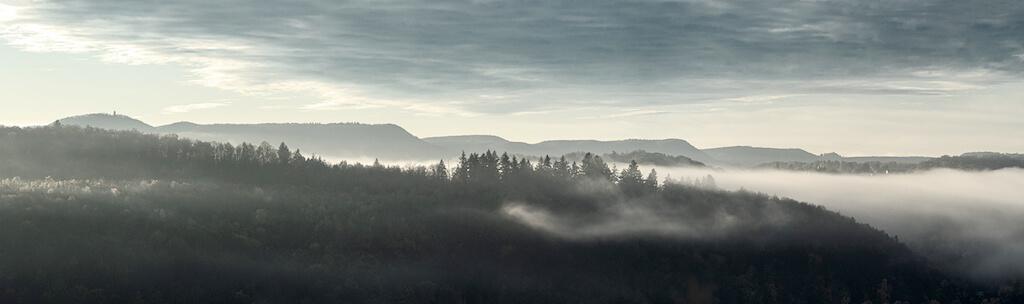 Landschaftsfotografie in Tübingen: Blick auf die Schwäbische Alb
