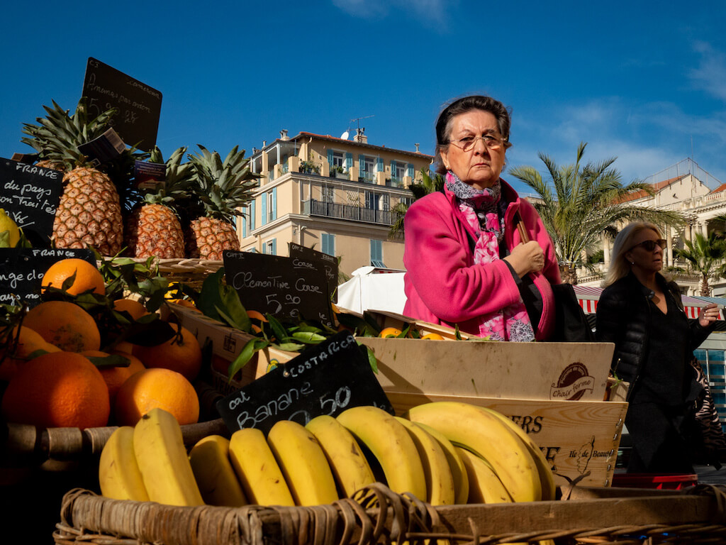 Markt der Cours Saleya: eine farbenfrohe Fotolocation in Nizza