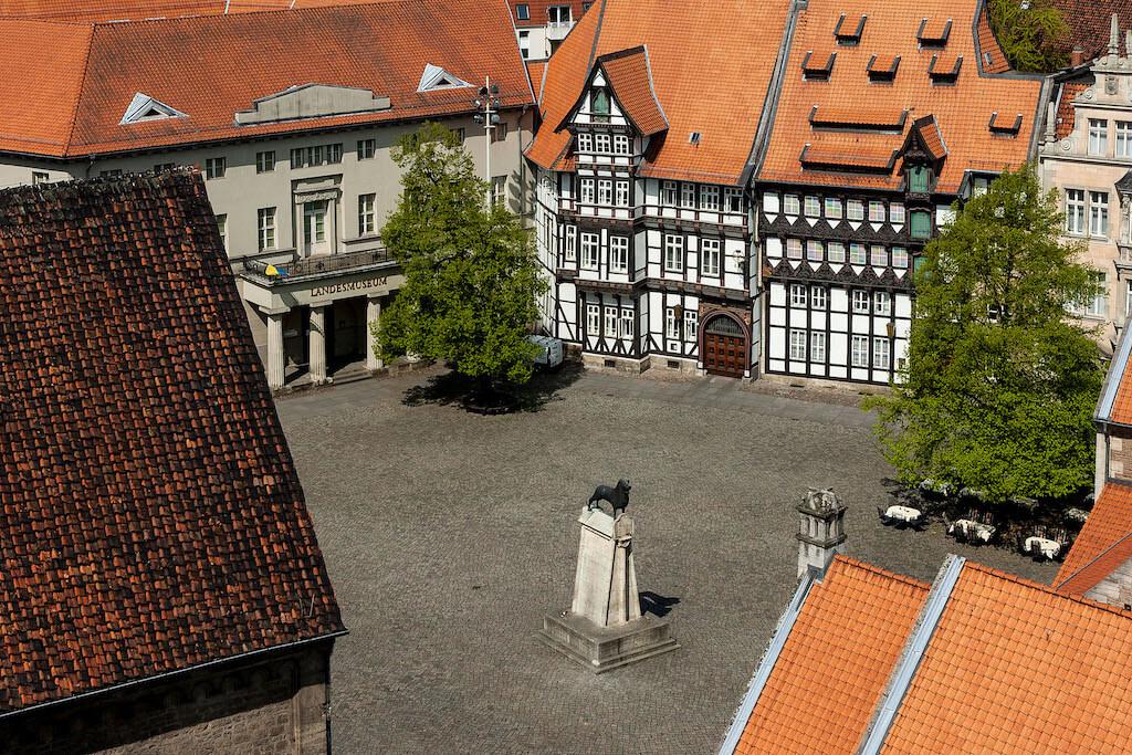 Sehenswürdigkeiten fotografieren: Der Burgplatz in Braunschweig