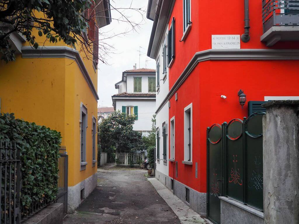 Bunte Fotomotive in Mailand fotografieren