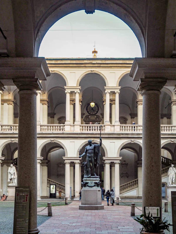 Sehenswürdigkeiten in Mailand fotografieren: Pinakothek Brera
