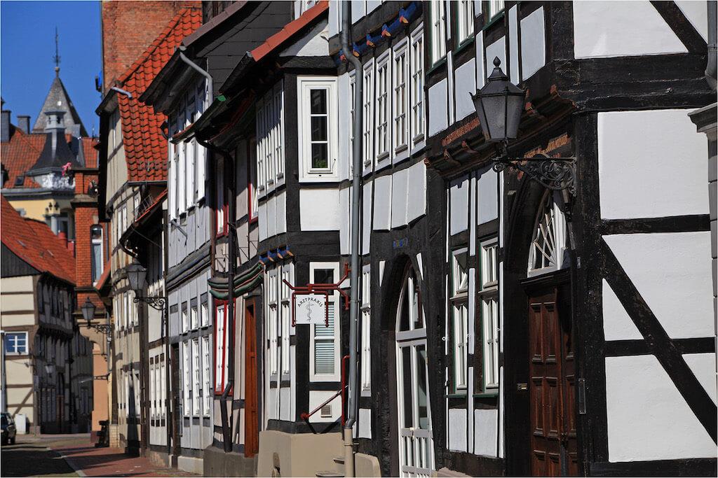 Die Alte Marktstraße in Hameln fotografieren