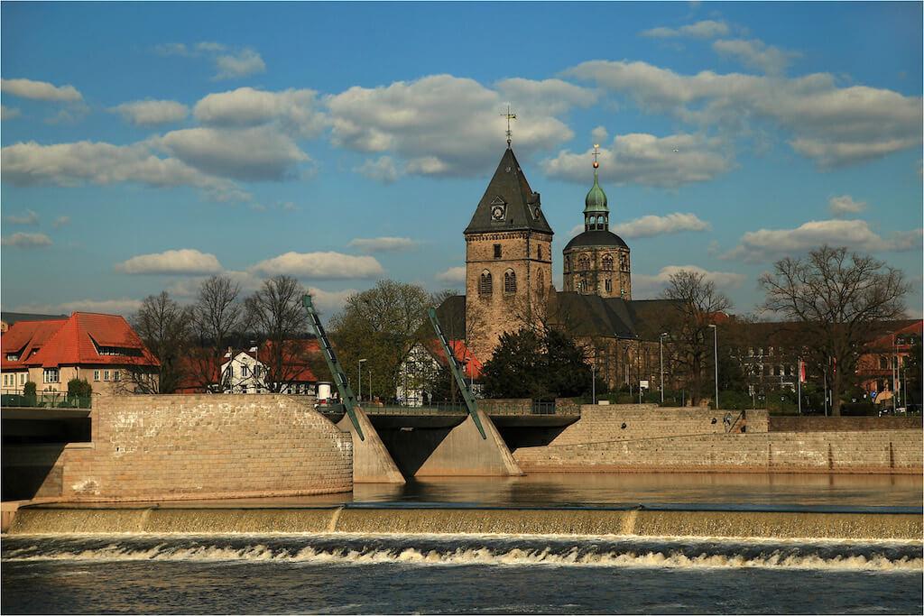 Blick auf Hameln von der Münsterbrücke aus
