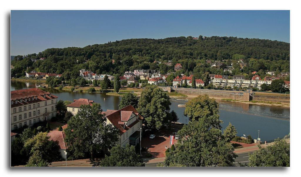 Aussicht vom Kirchturm über Hameln an der Weser