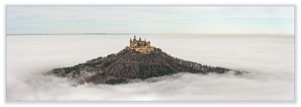 Die Sehenswürdigkeit Burg Hohenzollern fotografieren