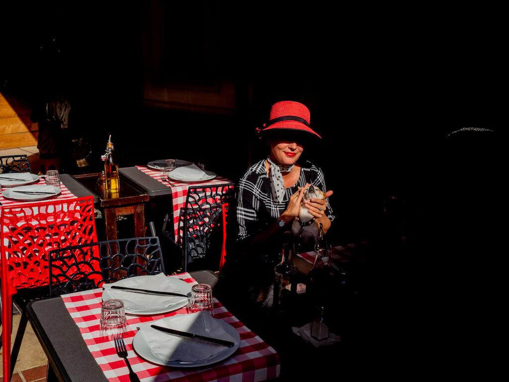 Restaurants als Fotomotiv in Nizza