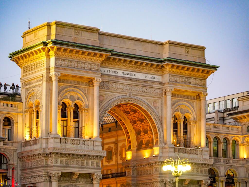 Galleria Vittorio Emanuele II in Mailand fotografieren
