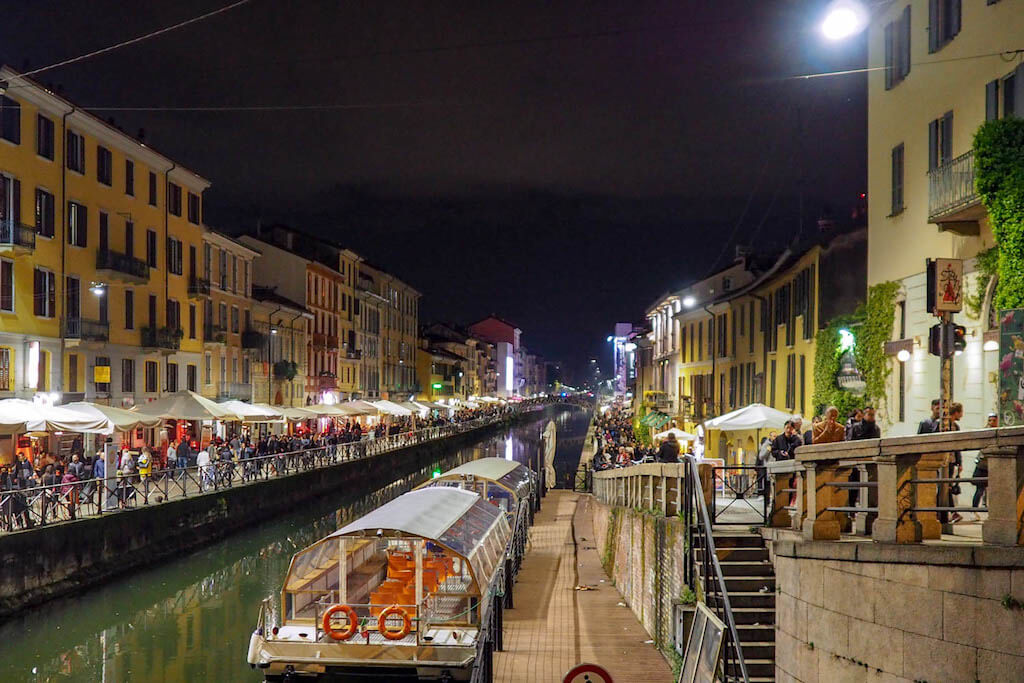 Naviglio Grande in Mailand fotografieren