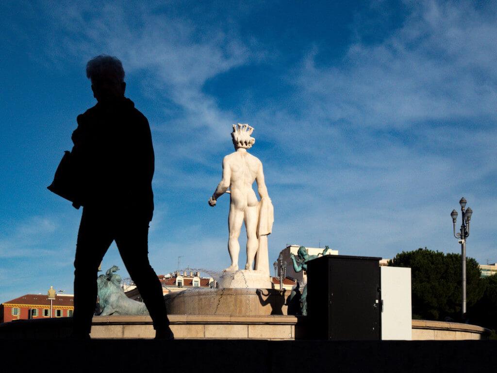 Fotomotive auf dem Place Massena in Nizza