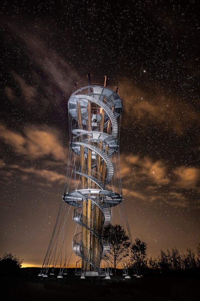 Der Schönbuchturm unterm Sternenhimmel