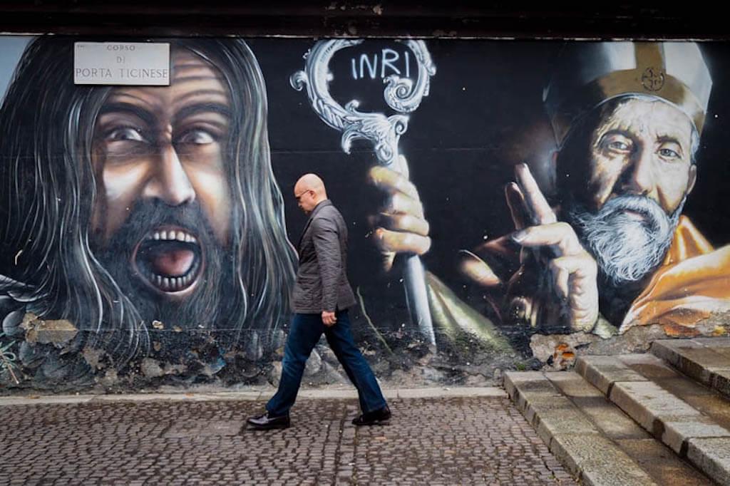 Streetart in Mailand fotografieren