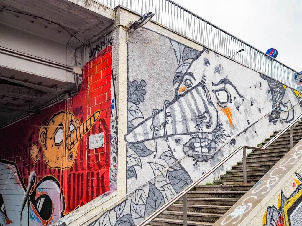 Bunte Streetart in Mailand