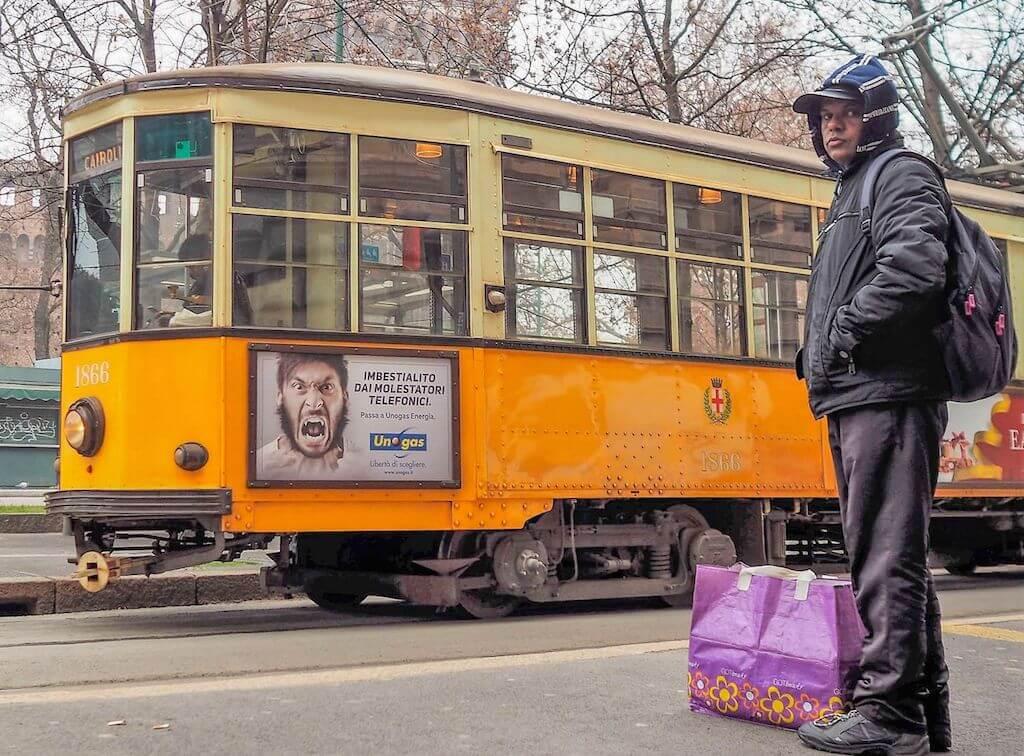 Einzigartige Motive in Mailand fotografieren: Die alten Straßenbahnen