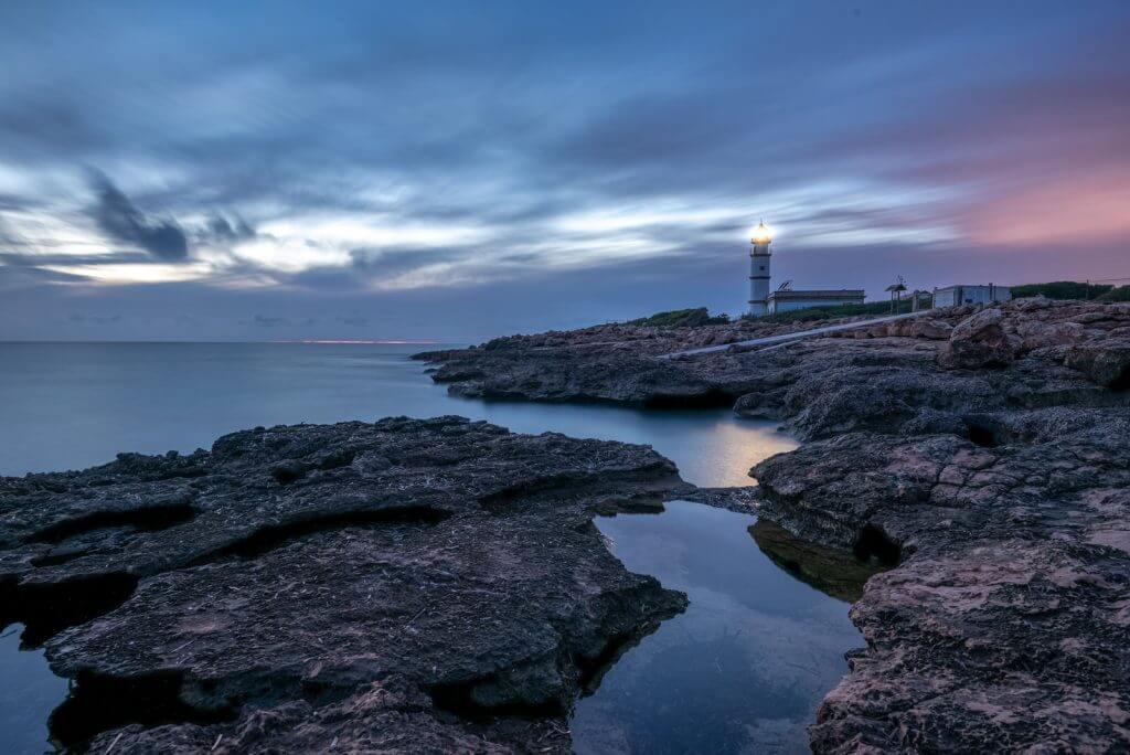 Leuchtturm am Cap ses Salines fotografieren