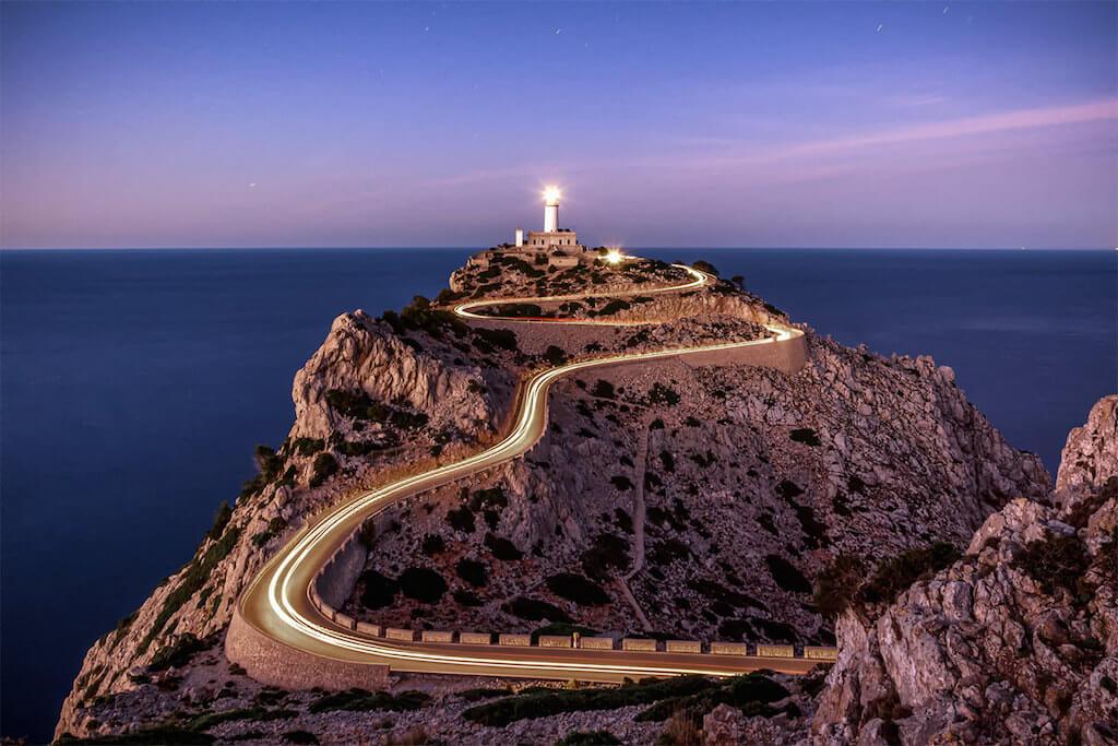 Leuchtturm Faro de Cap Formentor auf Mallorca fotografieren