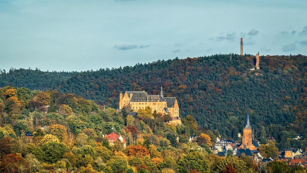Die Sehenswürdigkeit 'Landgrafenschloss' in Marburg fotografieren