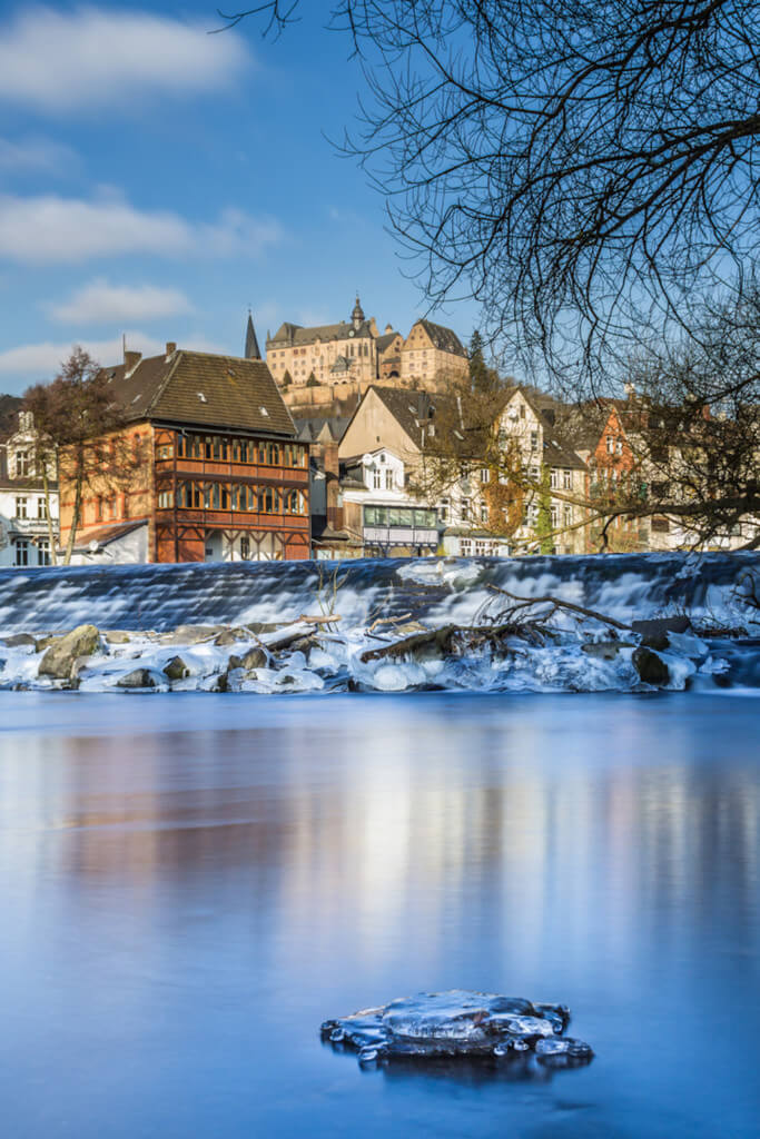 Wintermotiv Marburg