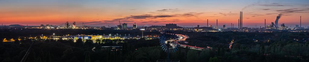 Stadt-Panorama in Duisburg fotografieren