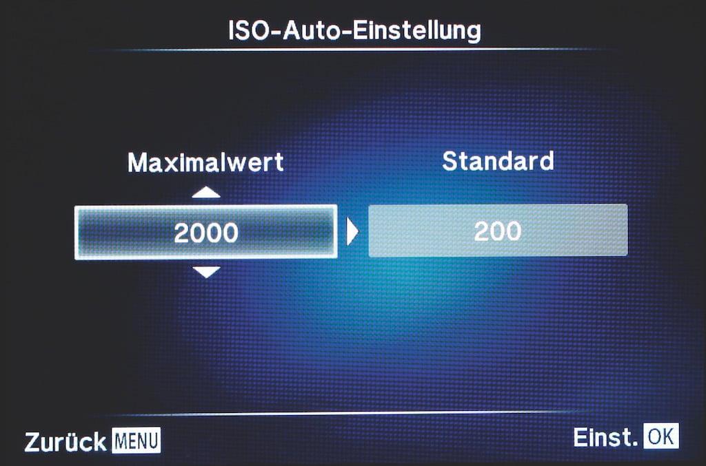 ISO-Auto-Einstellung in der Kamera