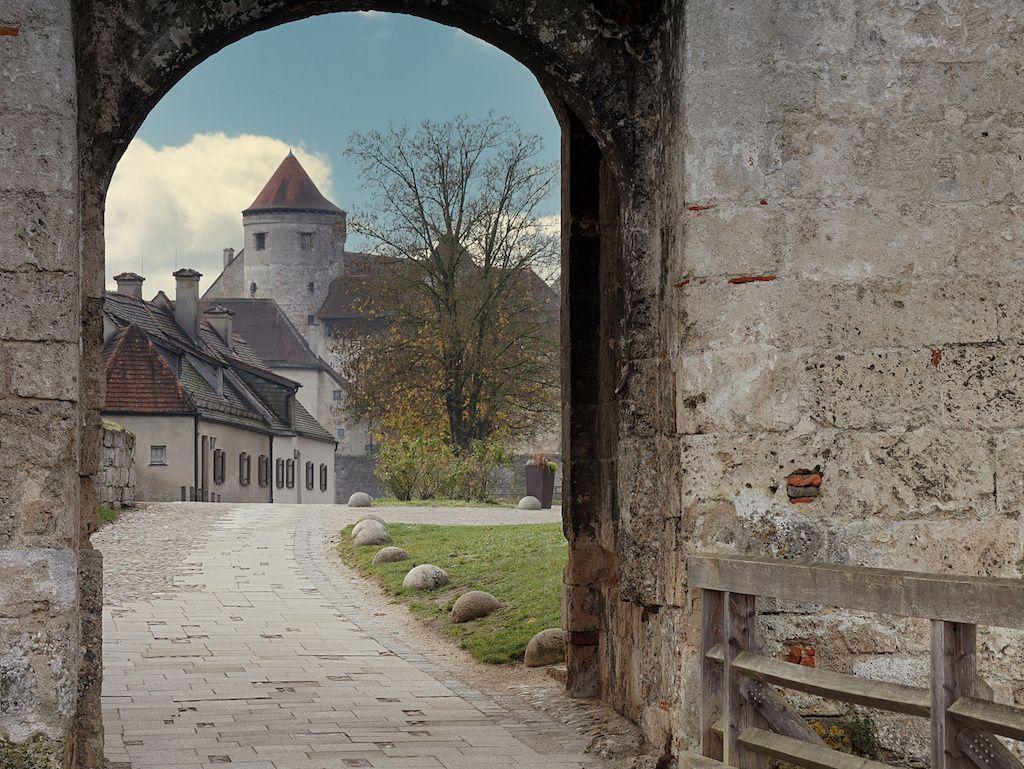 Burghof der Burg Burghause