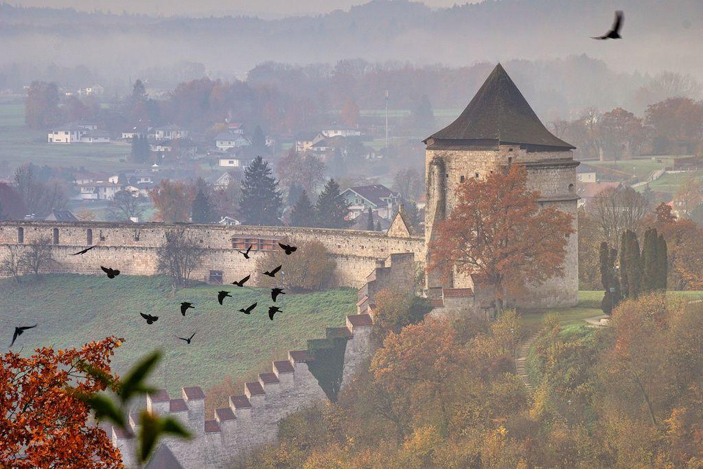 Wehranlage in Burghausen fotografieren