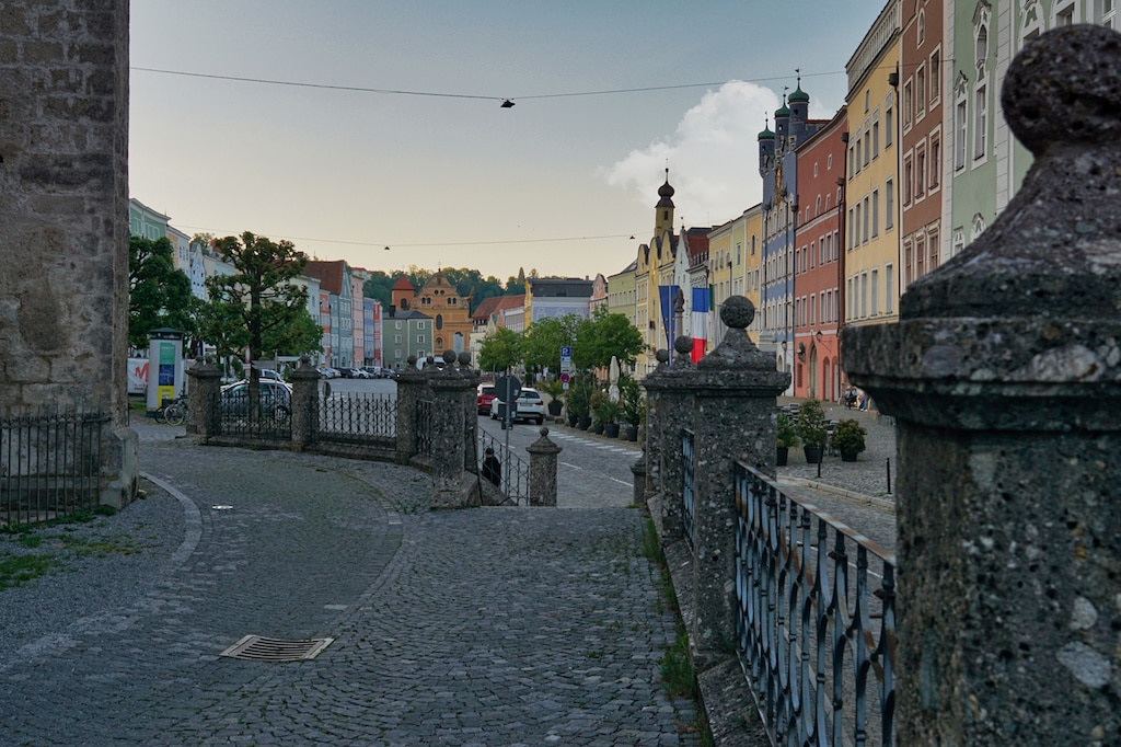 Stadtplatz von Burghausen fotografieren